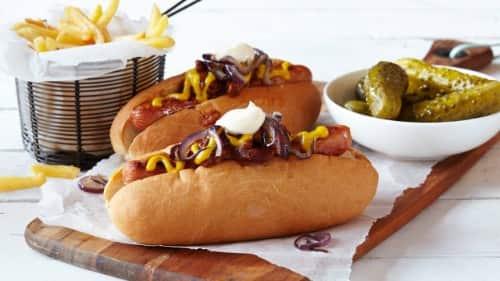 Perros calientes con chile