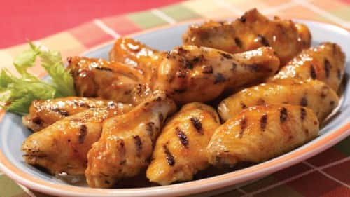 Caution Flag Chicken Wings with Maple Bourbon Glaze Recipe