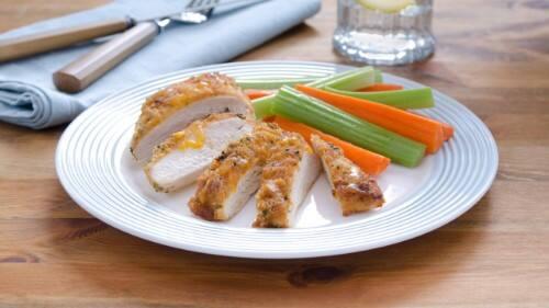 BBQ-Cheddar-Crusted Chicken Recipe