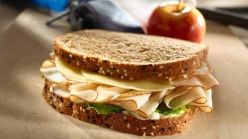 Turkey Sandwich with Whole Grain Bread