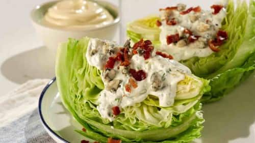 Wedge Salad with Keto Ranch Dressing