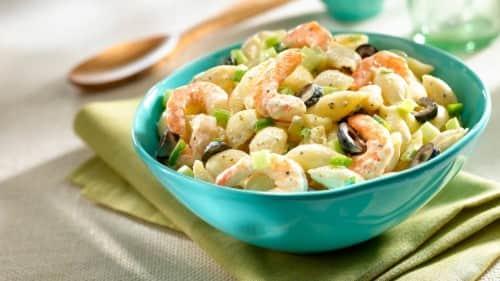 Final Lap Macaroni Salad with Shrimp