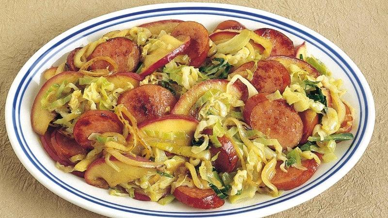 Kielbasa-Cabbage Dijon