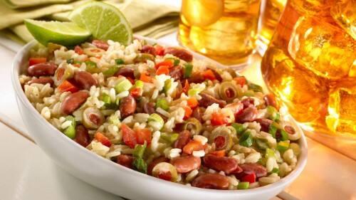 Creamy Rice & Bean Salad