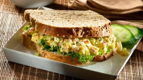 Smokin' Egg Salad Sandwiches
