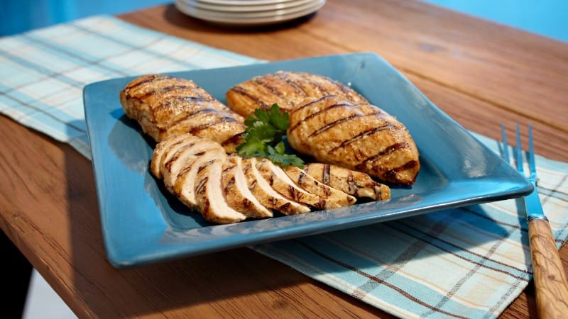Grilled Juicy Parmesan Chicken