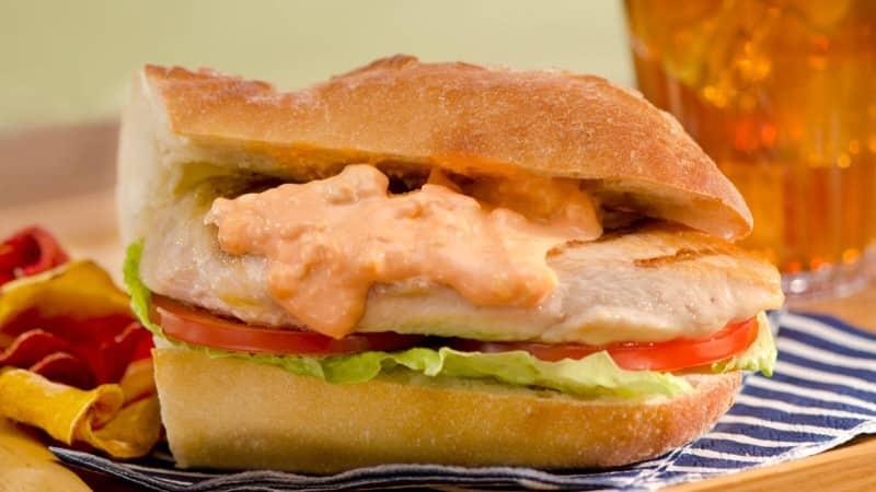 Red, White & Blue Grilled Chicken Sandwiches