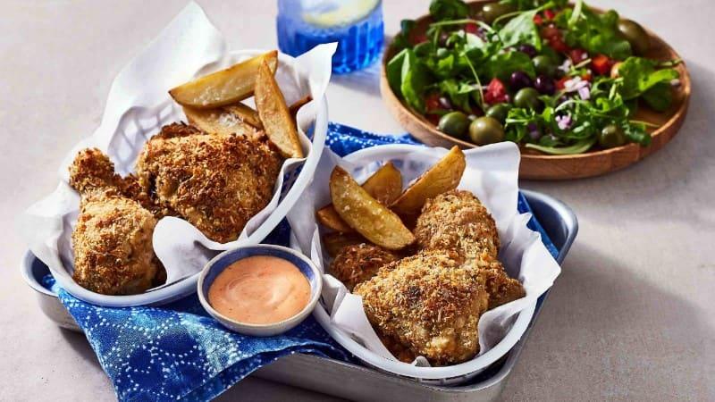 Balsamic Italian Oven-Fried Chicken