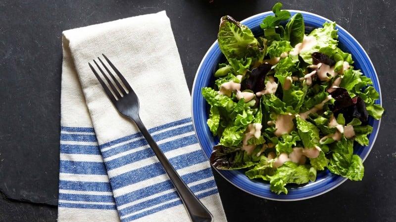 Trisha's Spring Mix Salad With Easy Thousand Island Dressing