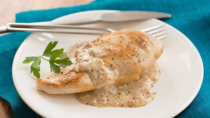 Creamy Honey Mustard Skillet Chicken Recipe