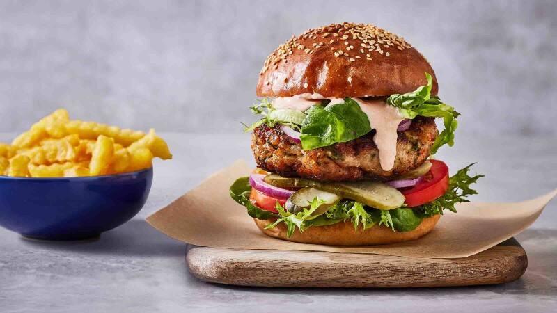 Sabrosa receta de hamburguesa de pavo