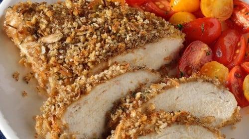 Pollo con corteza de cebolla